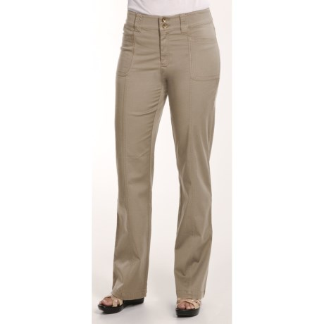 Casual Studio Stretch Cotton Pants (For Women)