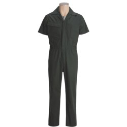Mike Rowe Works Dirty Jobs Poplin Coveralls- Short Sleeve (For Men)