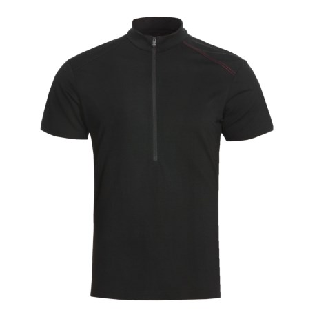 Icebreaker GT Bike Commute Cycling Jersey -  Merino Wool, Zip Neck, Short Sleeve (For Men)