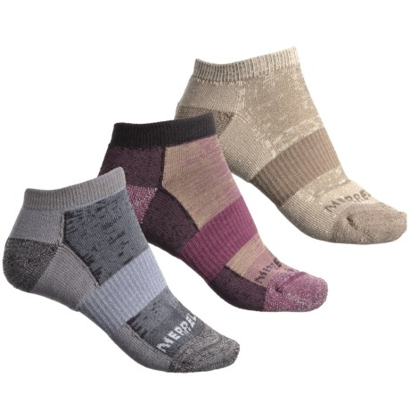 Merrell Athletic Cushioned Hiking Socks - 3-Pack, Below the Ankle (For Women)