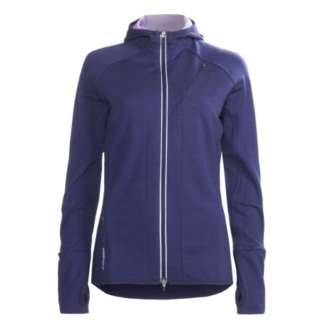 Icebreaker GT260 Quantum Hooded Shirt - Merino Wool, Full Zip, Long Sleeve (For Women)