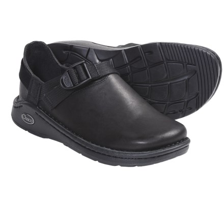 Chaco Pedshed Gunnison Clogs - Leather (For Women) in Black - Closeouts