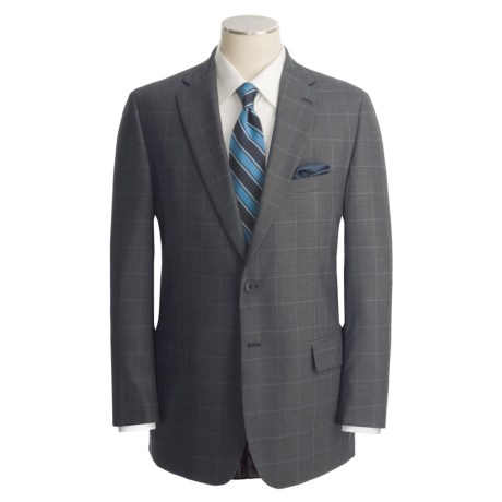 Corbin Windowpane Plaid Suit - Wool (For Men)
