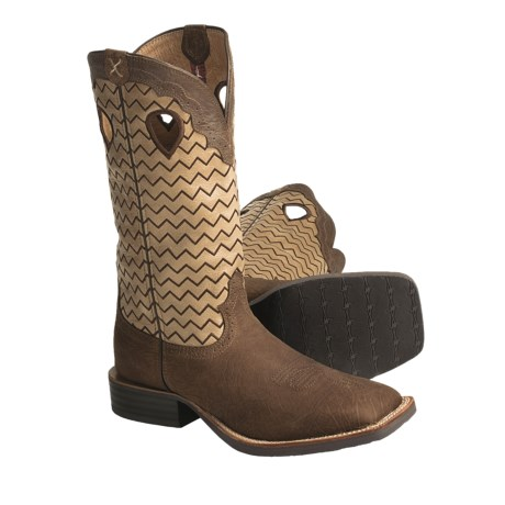 Twisted X Boots Ruff Stock Cowboy Boots - NWS-Toe (For Men)