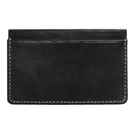 Wisecracker The Covington Card and Cash Slip Wallet - Leather in Black - Closeouts
