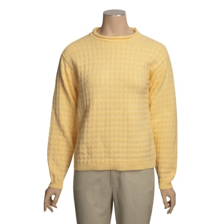ALPS Ocean Bluff Cotton Sweater (For Women)