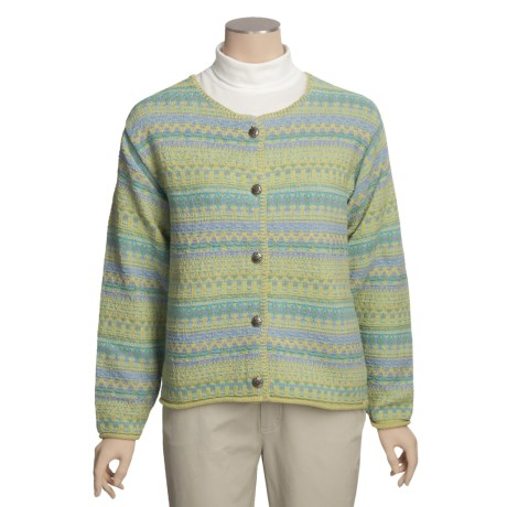 ALPS Gulf Shore Cotton Cardigan Sweater (For Women)