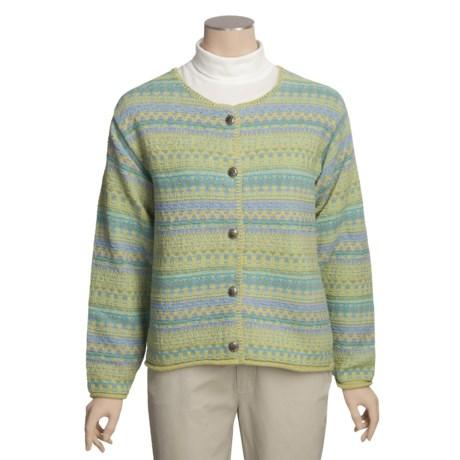 ALPS Gulf Shore Cotton Cardigan Sweater (For Women)