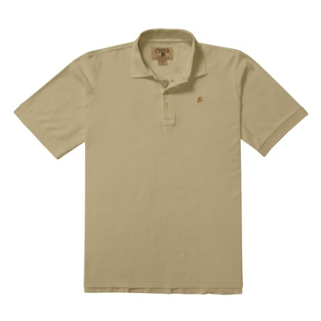 Madison Creek Outfitters Herringbone Polo Shirt - Cotton, Short Sleeve (For Men)