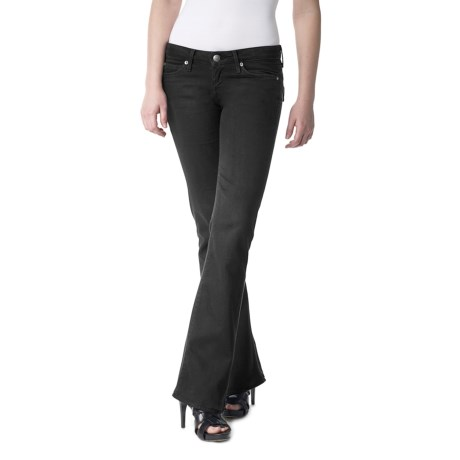 Agave Nectar Vaquera Blackout Jeans - Supima® Cotton, Slim Fit, Flared Leg (For Women)