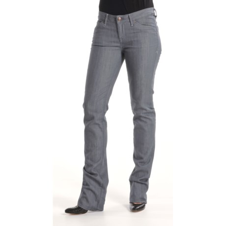 Agave Nectar Paraiso Gunmetal Jeans - Stretch, Slim Fit (For Women)