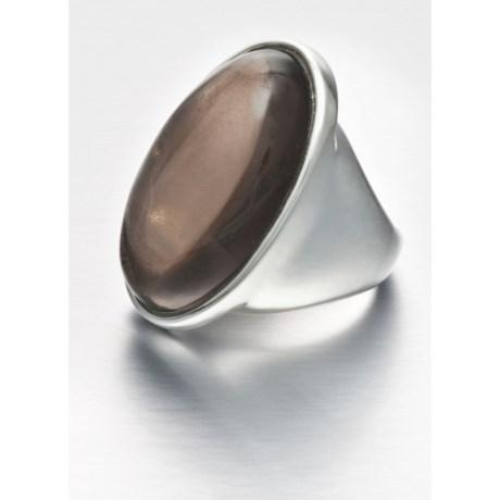Aluma USA Smoky Quartz Ring - Oversized, Sterling Silver