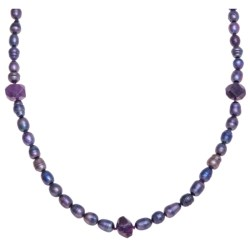 Aluma USA Freshwater Pearl and Amethyst Necklace