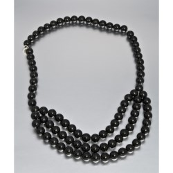 Aluma USA Convertible Black Agate Necklace