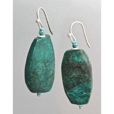 Aluma USA Turquoise Twist Drop Earrings