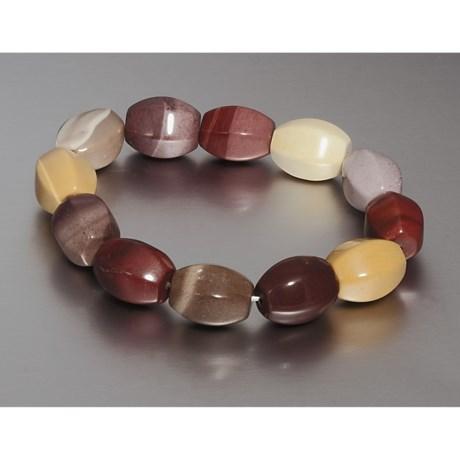 Aluma USA Mookaite Jasper Stretch Bracelet