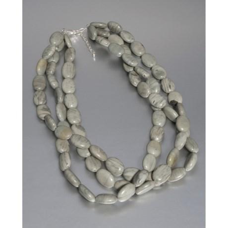 Aluma USA Jasper Necklace - Multi-Strand