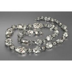 """Aluma USA Mosaic Howlite Necklace - 30"""""""