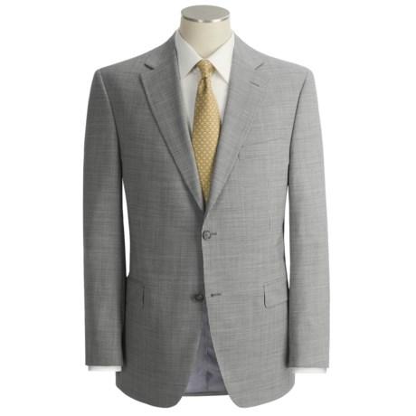 Jack Victor Beaded Slim Jim Stripe Suit - Wool (For Men)