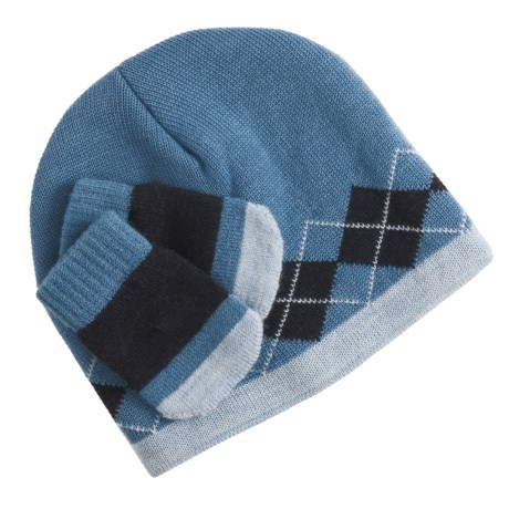 SmartWool Argyle Hat and Mitten Set - Merino Wool (For Infants)