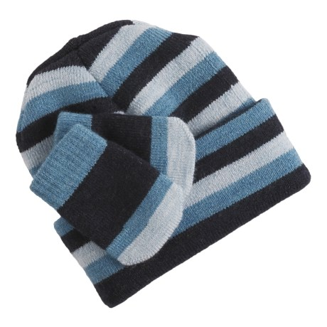 SmartWool Wintersport Striped Hat and Mitten Set - Merino Wool (For Infants)