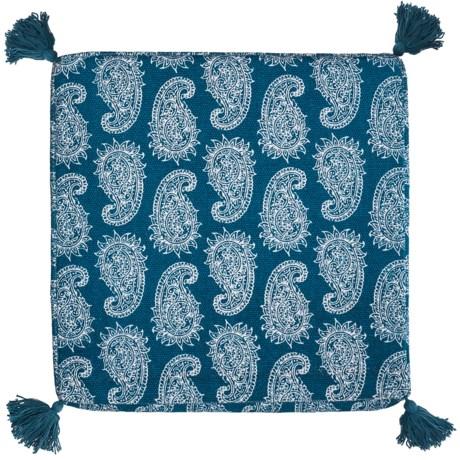 "THRO Paloma Paisley Printed Floor Cushion - 21x21x4"""