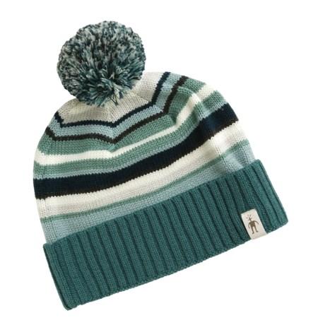 SmartWool Latte Striped Beanie Hat - Merino Wool (For Men and Women)