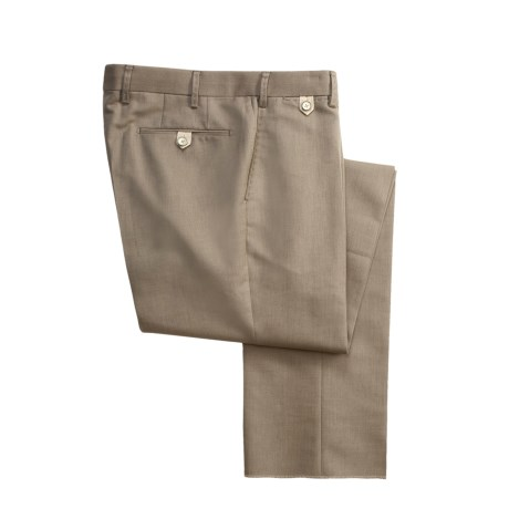 Hiltl Cotton-Wool Double Face Pants - Flat Front (For Men)