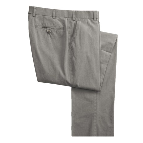 Hiltl Bi-Color Twill Pants - Flat Front (For Men)