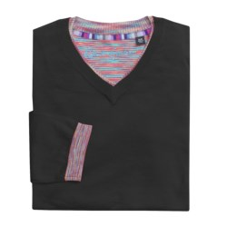 Robert Graham Kapock Cotton Sweater - High V-Neck (For Men)
