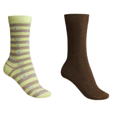 Goodhew Independence Day/San Fran Cable Socks - 2-Pack, Merino Wool (For Women)