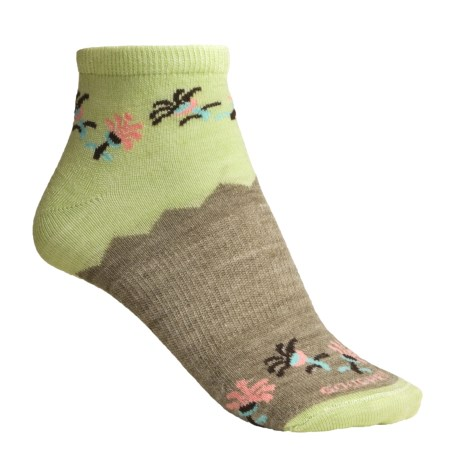 Goodhew Rasta Ankle Socks - Merino Wool (For Women)