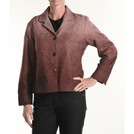 Casual Studio Ombre Jacquard Jacket (For Women)