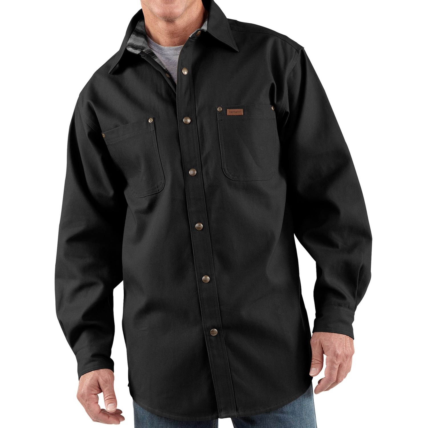 carhartt canvas shirt jacket for tall men 4037d