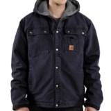 Carhartt Sandstone Hooded Multi-Pocket Jacket - Sherpa Lined (For Tall Men)