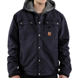 Carhartt Sandstone Hooded Multi-Pocket Jacket - Sherpa Lined (For Men)