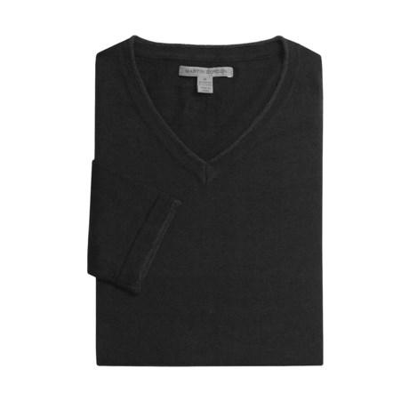 Martin Gordon Cotton-Cashmere Sweater - V-Neck (For Men)
