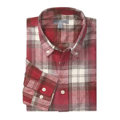 Martin Gordon Flannel Plaid Sport Shirt – Cotton, Long Sleeve (For Men)