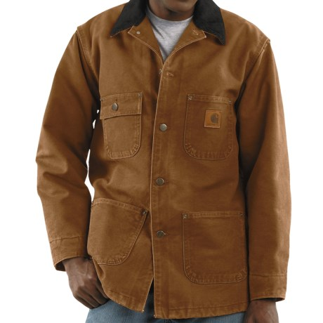 Carhartt Sandstone Chore Coat - Blanket-Lined (For Men)
