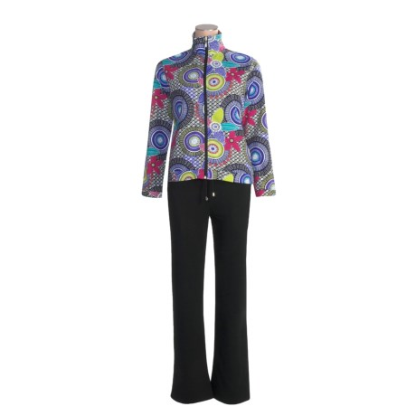Kaktus Jacket and Pant Set - French Terry Cotton, 2-Piece (For Women)