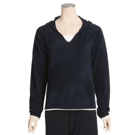 Soybu SoyBu V-Neck Pullover Sweatshirt - Hooded (For Women)