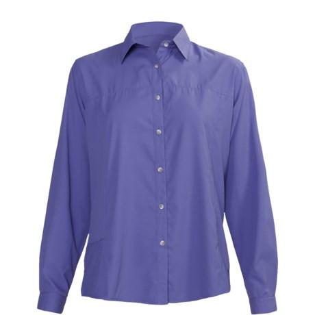 White Sierra Gobi Desert Shirt - UPF 30, Long Sleeve (For Plus Size Women)