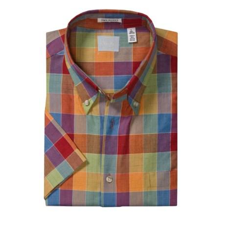 Viyella Multi-Madras Plaid Sport Shirt - Short Sleeve (For Men)