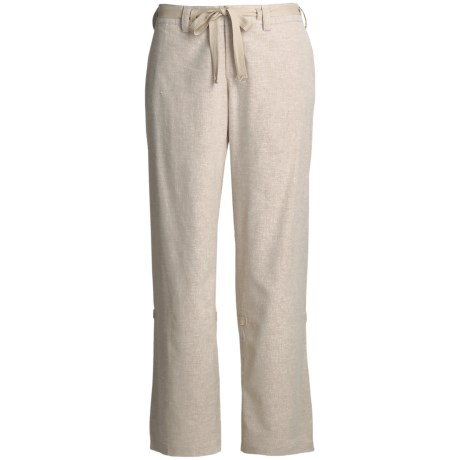 Isis Roll-Back Pants - Hemp, Recycled Materials (For Women)
