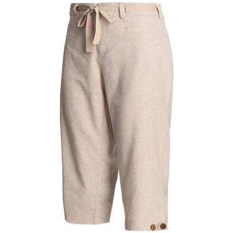 Isis Hang-Loose Capri Pants - Hemp, Recycled Materials (For Women)
