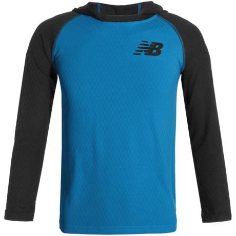 New Balance High-Performance Hooded Shirt - Long Sleeve (For Big Boys)