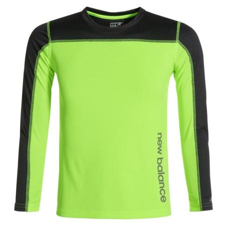 New Balance High-Performance T-Shirt - Long Sleeve (For Big Boys)
