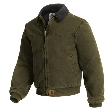 Carhartt Sandstone Duck Santa Fe Jacket (For Tall Men)