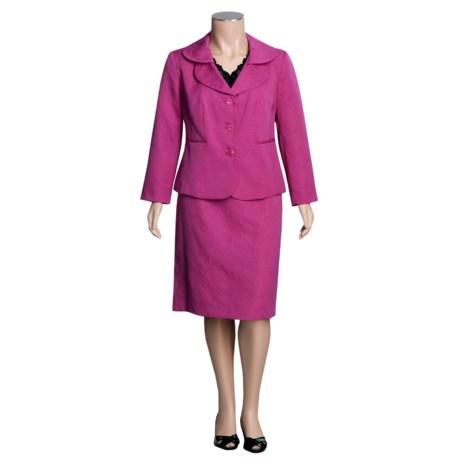 Isabella Jacquard Suit - Plus Size (For Women)