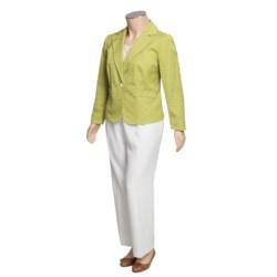Isabella Cotton-Rich Pant Suit - Plus Size (For Women)